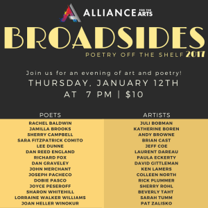 Broadsides: Poetry Off The Shelf 2017