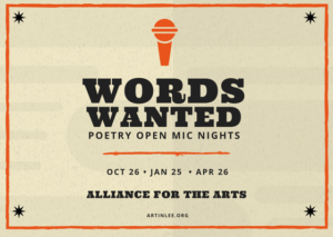 Poetry Open Mic Night (January 2018)