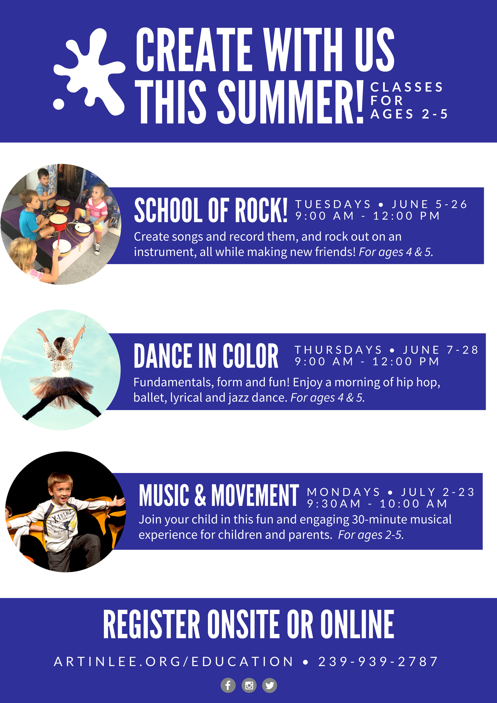 Minis Summer Series Classes - Alliance for the Arts