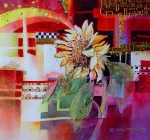 Adding Gold to Floral Paintings – Watercolor, Collage & Metallic