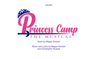 Princess Camp the Musical by Megan Russell and Christopher Russell (Youth Theatre)